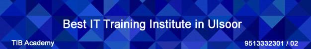 Best IT Training Institute in Ulsoor