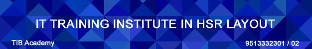 Best IT Training Institute in HSR LAYOUT