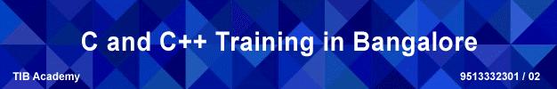 c and c++ training in bangalore