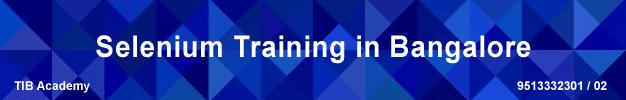selenium training bangalore