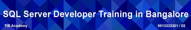 sql server developer training in bangalore